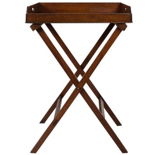 19th Century English Traditional Butler's Tray Table For Sale