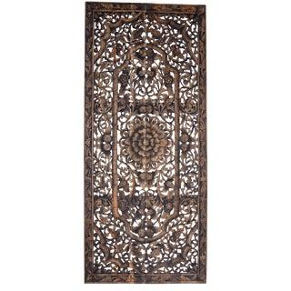 Teak Thai Mandala Panel For Sale