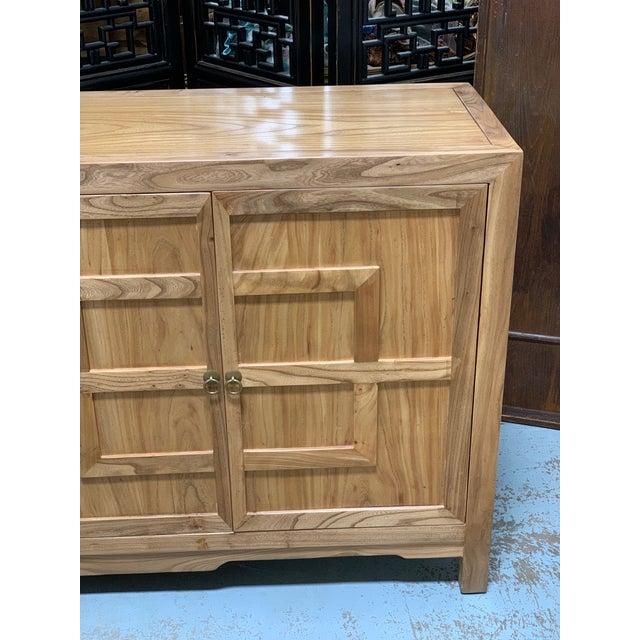 Traditional Key Design 4 Door Natural Cabinet For Sale - Image 3 of 9