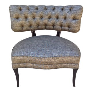 Billy Haines Style Tufted Slipper Chair For Sale