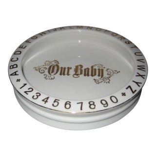 """1930s German """"PK Unity"""" Our Baby Bowl in Gold Leaf Lettering For Sale"""
