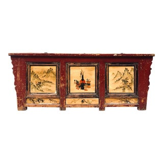 Antique Rustic Chinese Cabinet/Credenza/Sideboard Buffet For Sale