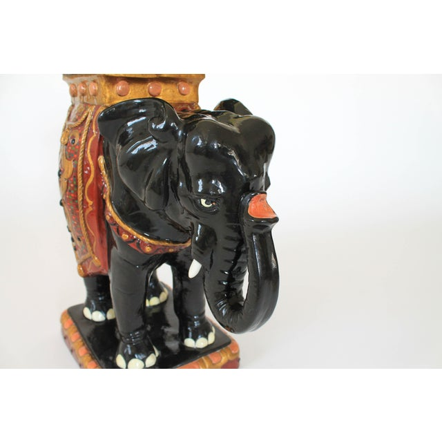 Plaster Elephant Garden Seat For Sale - Image 7 of 13