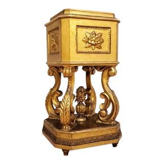 19th Century Italian Rococo Baroque Gilt Pedestal Stand For Sale