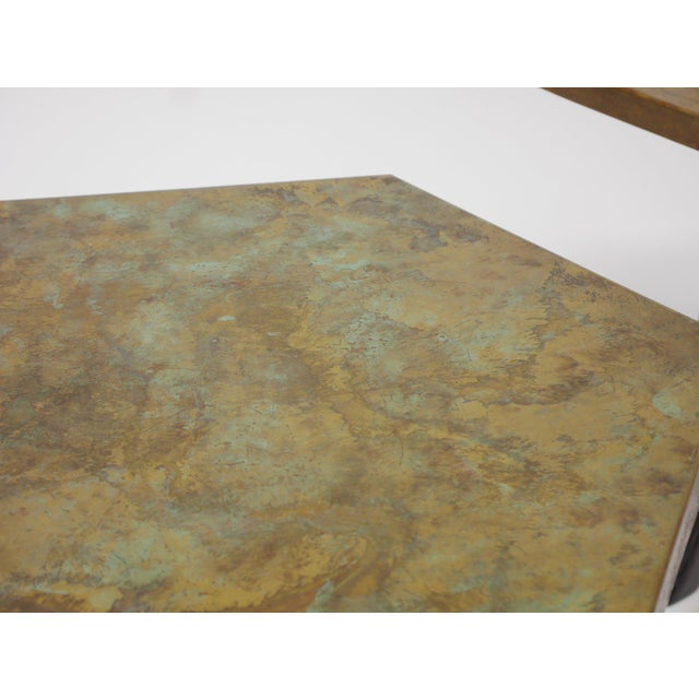 Pair of Harvey Probber Acid-Etched Bronze Tables For Sale - Image 10 of 11