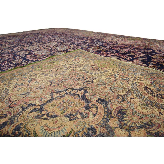 """Antique Persian Kirman Palace Size Rug - 11' X 17'4"""" For Sale In Dallas - Image 6 of 10"""