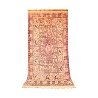"""Boujad Vintage Moroccan Rug, 6'4"""" X 12'10"""" Feet"""