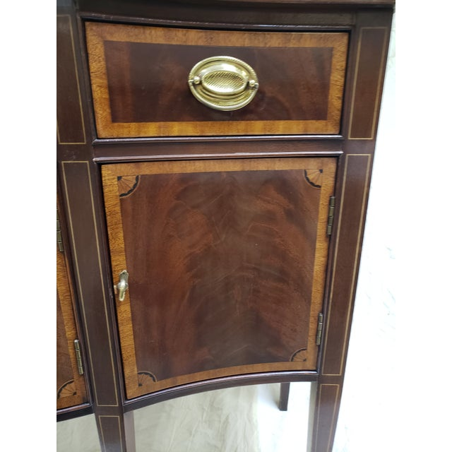Metal 1980s Traditional Hickory American Masterpiece Collection Sideboard Server For Sale - Image 7 of 13