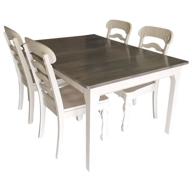 Rustic Pine Wood Dining Set - Image 1 of 10
