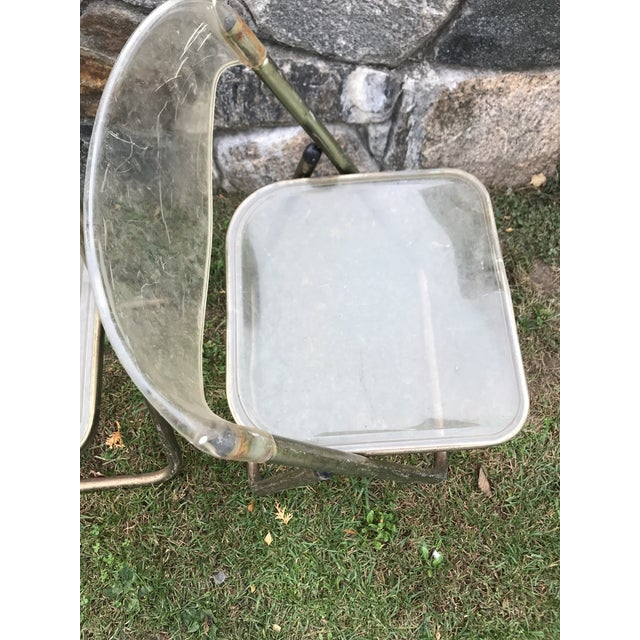 Italian Mid-Century Lucite Folding Chairs - A Pair - Image 8 of 10
