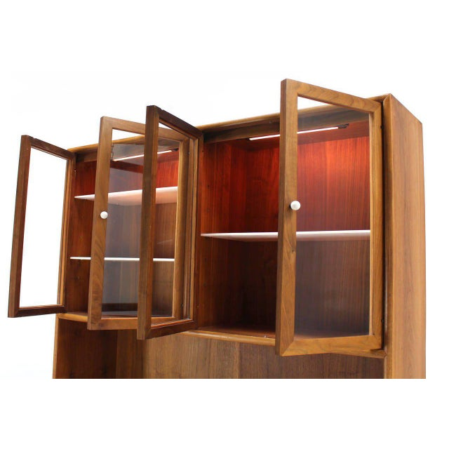 Brown Drexel Declaration Two Part Cabinet For Sale - Image 8 of 9