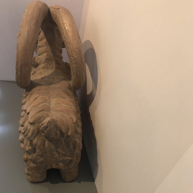 Boho Chic Austin Ram Pottery Sculpture For Sale - Image 3 of 7