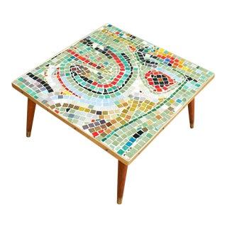 Mid Century Modern Mosaic Table- Abstract Art