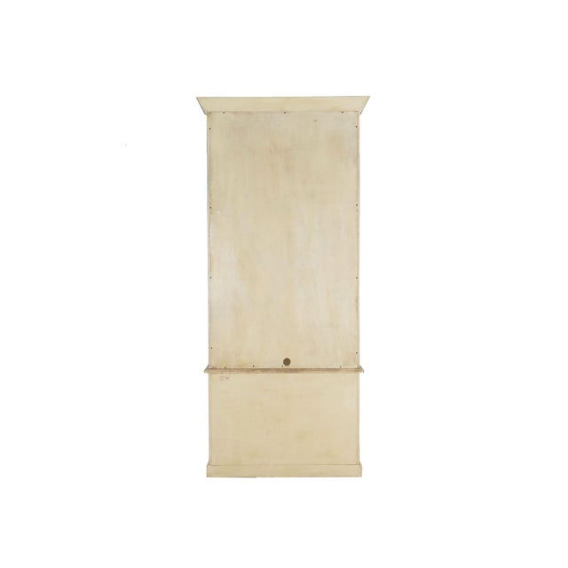 Swedish Gustavian Style Blue Painted Bookshelf Cabinet Bookcase by Lillian August For Sale - Image 4 of 13