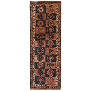 "Vintage Shiraz Wool Area Rug - 4' X 11'7"" For Sale"