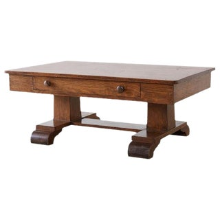Arts and Crafts Mission Oak Coffee Cocktail Table For Sale