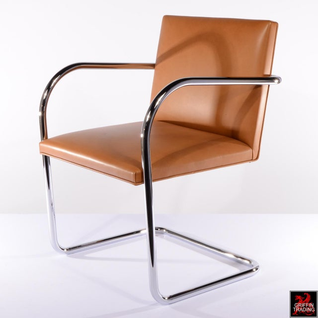 Industrial Six Mies Van Der Rohe Brno Armchairs by Knoll For Sale - Image 3 of 13