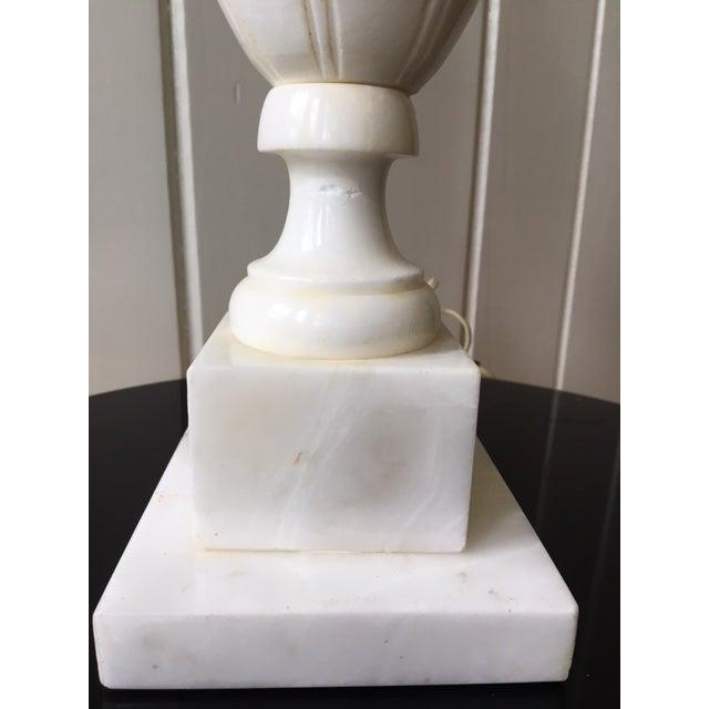 Marble Vintage Alabaster Marble Lamp For Sale - Image 7 of 10