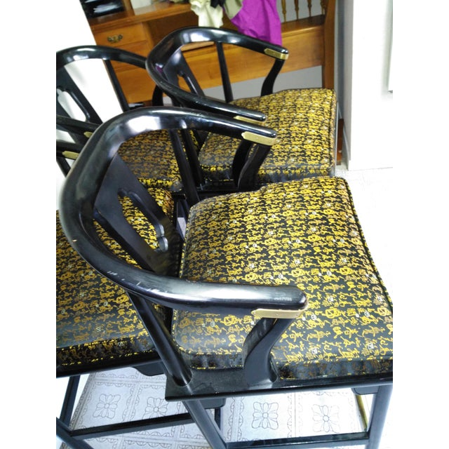 Century Chair Company Hickory Gold & Black Bar Counter Stools - A Pair - Image 9 of 11
