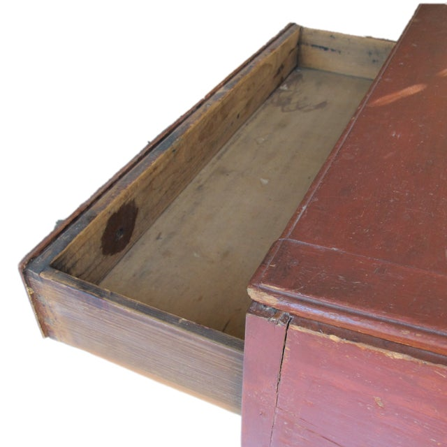 Original Red Painted Schoolmaster's Desk - Image 4 of 9