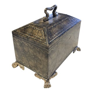 Maitland - Smith Brass Accent Wooden Table Box