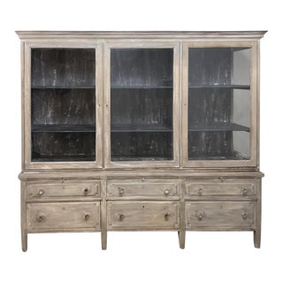 Antique French Louis XVI Whitewashed Bookcase ~ Vitrine For Sale