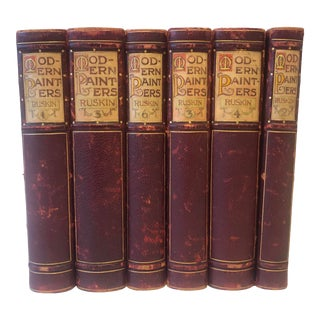 Modern Painters by John Ruskin in Fine Hand Painted Binding, 1897 For Sale