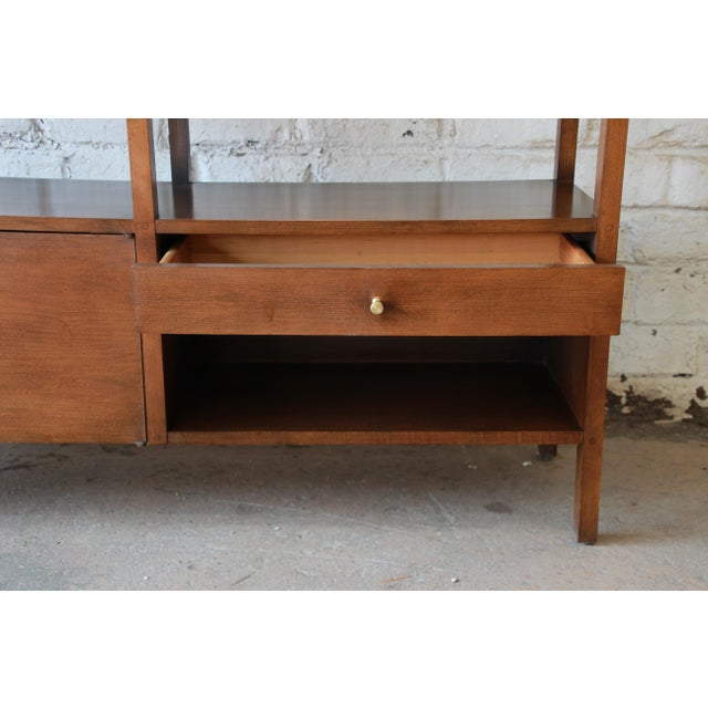 Brown Paul McCobb Planner Group Mid-Century Wall Unit or Room Divider For Sale - Image 8 of 11
