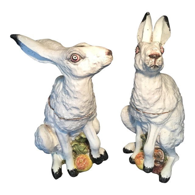 Italian Bunny Tureens - a Pair For Sale