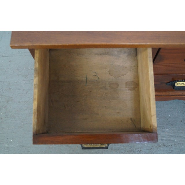 19th Century Low 8 Drawer Apothecary Cabinet For Sale - Image 9 of 9