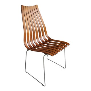 Modern Rosewood Slatted Norwegian Chair by Hans Brattrud for Move Mobler For Sale