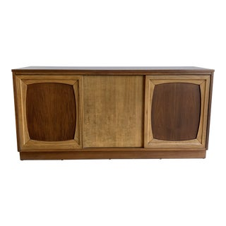 1960s Mid Century Two Tone Credenza For Sale