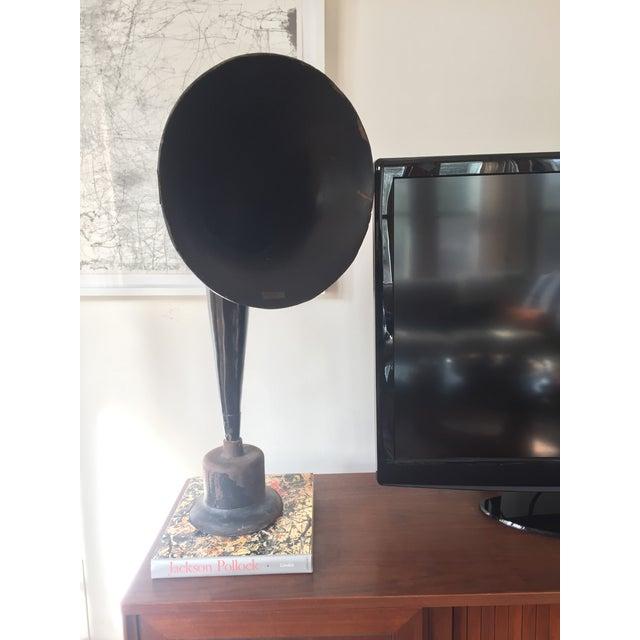 Vintage Western Electric Gamaphone Horn on Metal Base - Image 8 of 8
