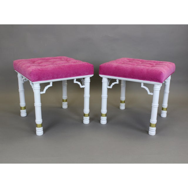 Mid Century Faux Bamboo Benches, A Pair - Image 6 of 11