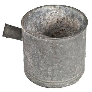 Vintage French Galvanized Water Bucket