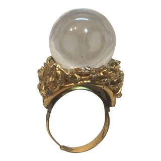 Mid Century Lucite Pools of Light Ring For Sale