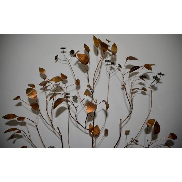 1960s 1960s Copper Metalwork Free Standing Tree by Curtis Jere For Sale - Image 5 of 9