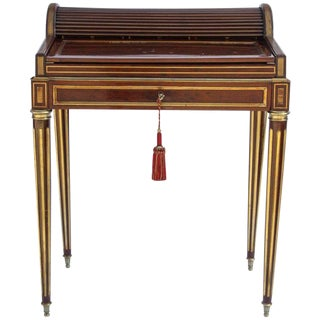 19th Century Traditional Paul Sormani Miniature Cylinder Writing Desk For Sale