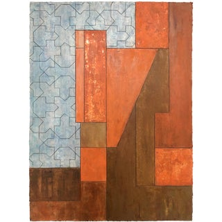 Dream House Architectural Abstract Painting by Stephen Cimini For Sale