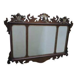 20th Century Chippendale Mahogany Mirror