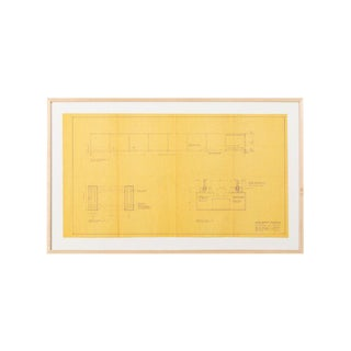Original Mies Van Der Rohe Blueprint From 1964, Illuminated Wall Details For Sale