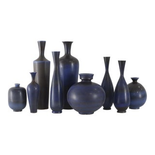 BERNDT FRIBERG Collection of Vases Gustavsberg Studio Sweden, ca. 1950