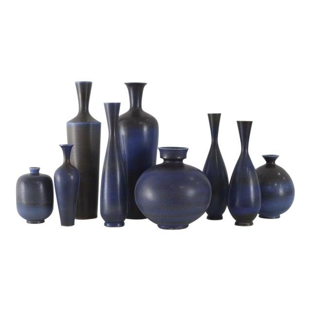 BERNDT FRIBERG Collection of Vases Gustavsberg Studio Sweden, ca. 1950 For Sale