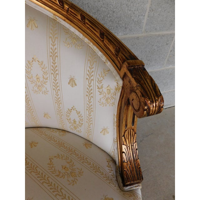 """Quality Louis XVI Style Gilt Frame Settee Sofa 57""""w For Sale - Image 11 of 13"""