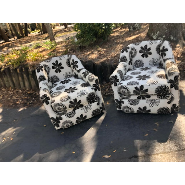 Rowe Furniture Swivel Chairs - a Pair For Sale - Image 9 of 12