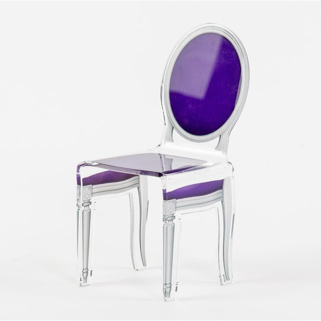 "Contemporary Purple Acrylic ""Sixteen"" Chair For Sale - Image 3 of 3"
