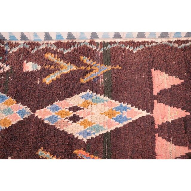 """Vintage Boucherouite Moroccan Runner - 2'6"""" x 9'8"""" - Image 3 of 4"""