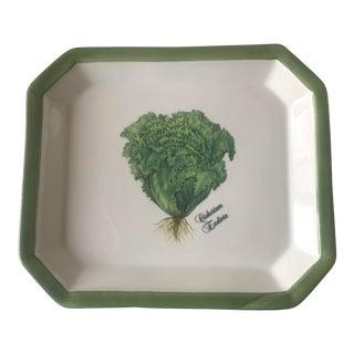 Italian Ceramic Small Lettuce Platter For Sale