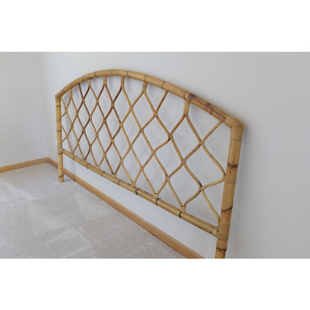 King Size Bamboo Rattan Headboard - Image 2 of 6