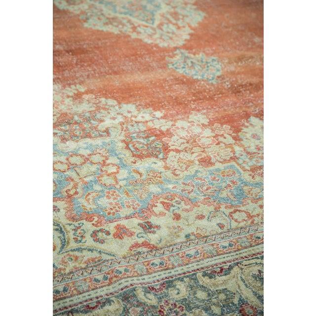 "White Vintage Distressed Arak Carpet - 10' x 13'3"" For Sale - Image 8 of 10"